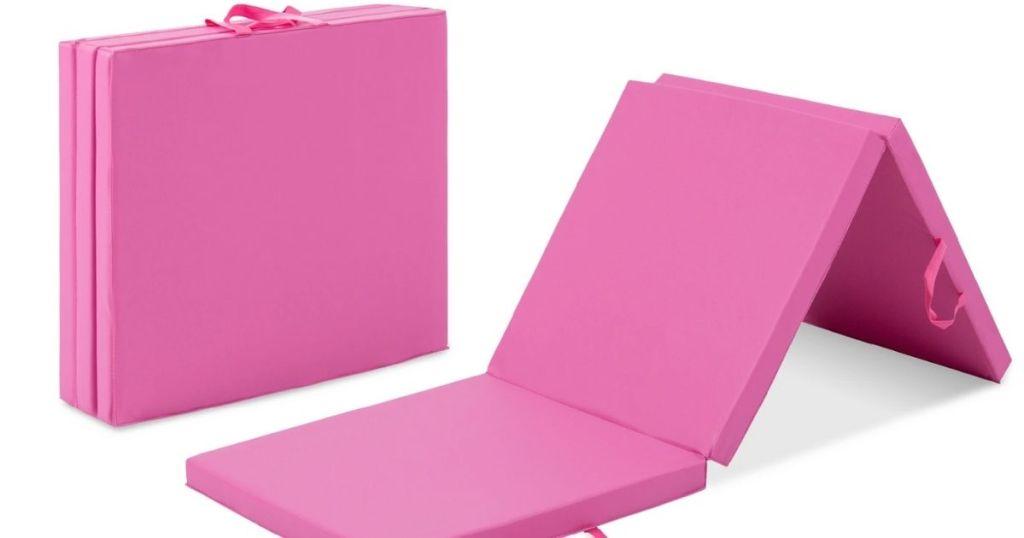 2 views of BCP Pink Trifold Mat