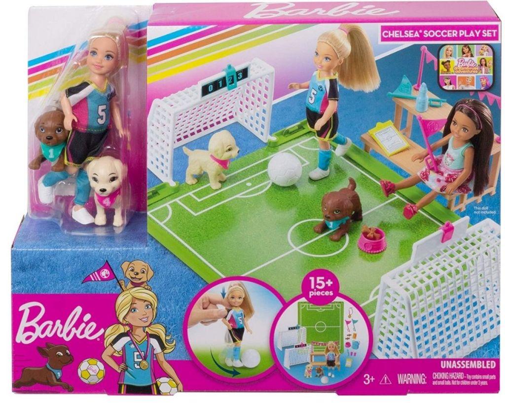 Barbie Chelsea Soccer Playset in packaging