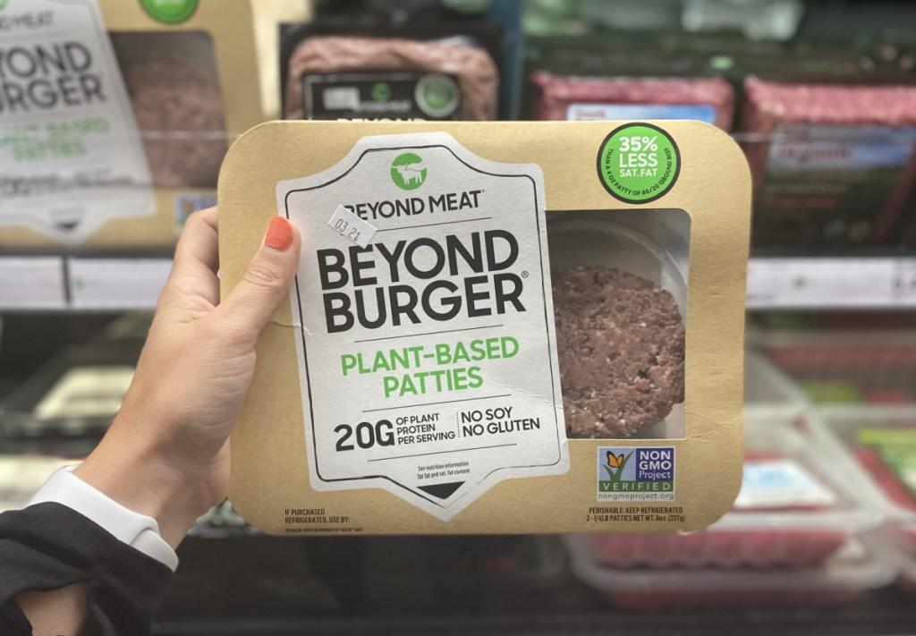 hand holding beyond burger at target