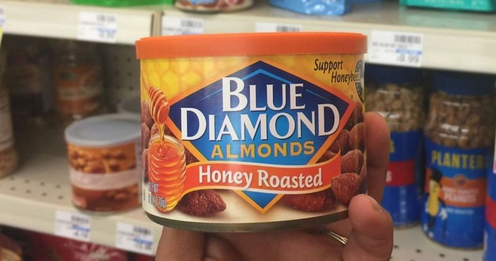 honey roasted blue diamond almonds