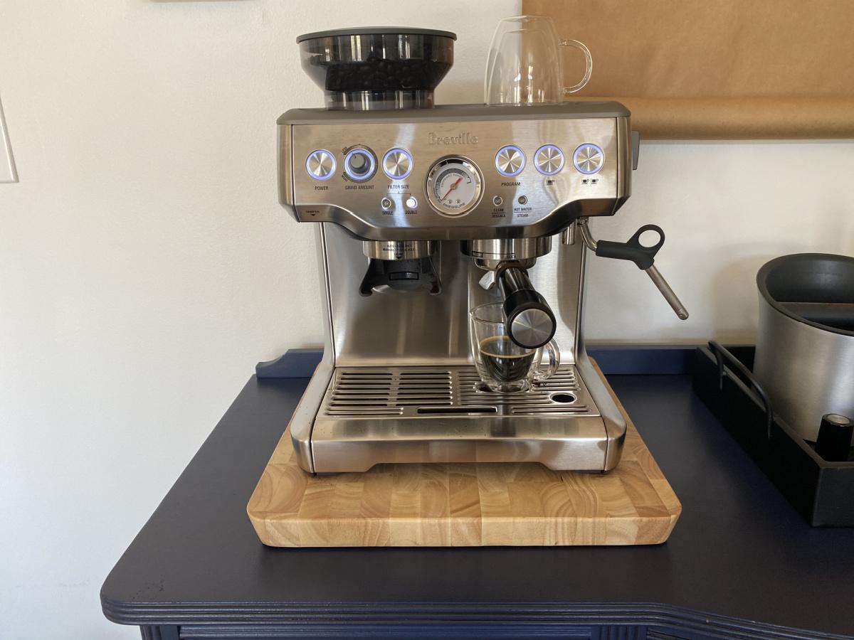 Espresso machine on counter top