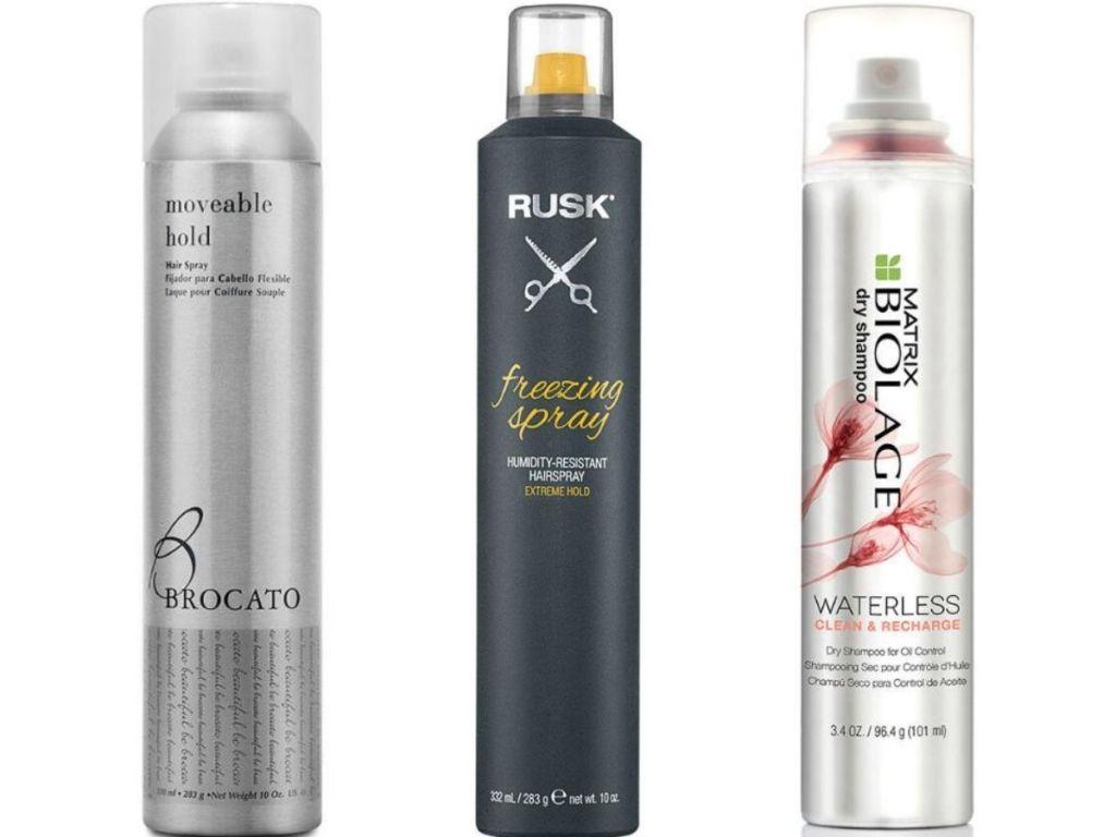 Brocato, Rusk and Matrix Hairspray