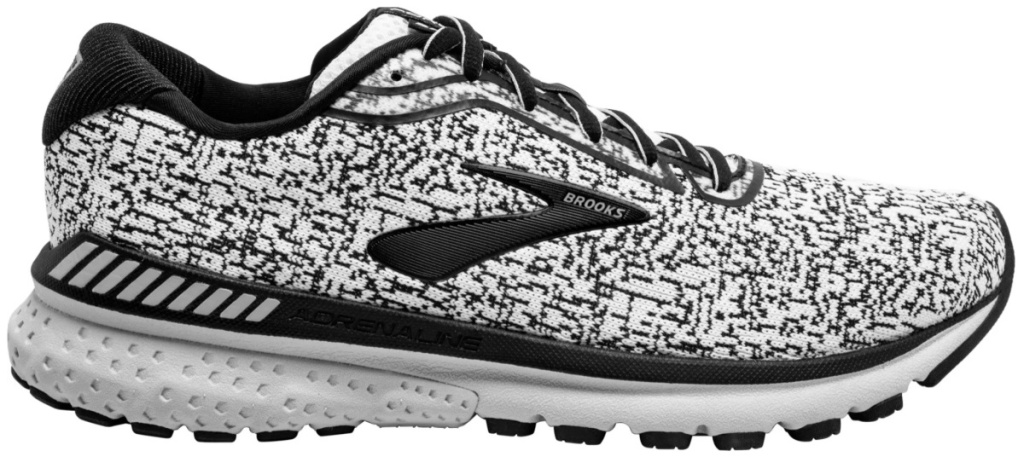 brooks men's black and white running shoes