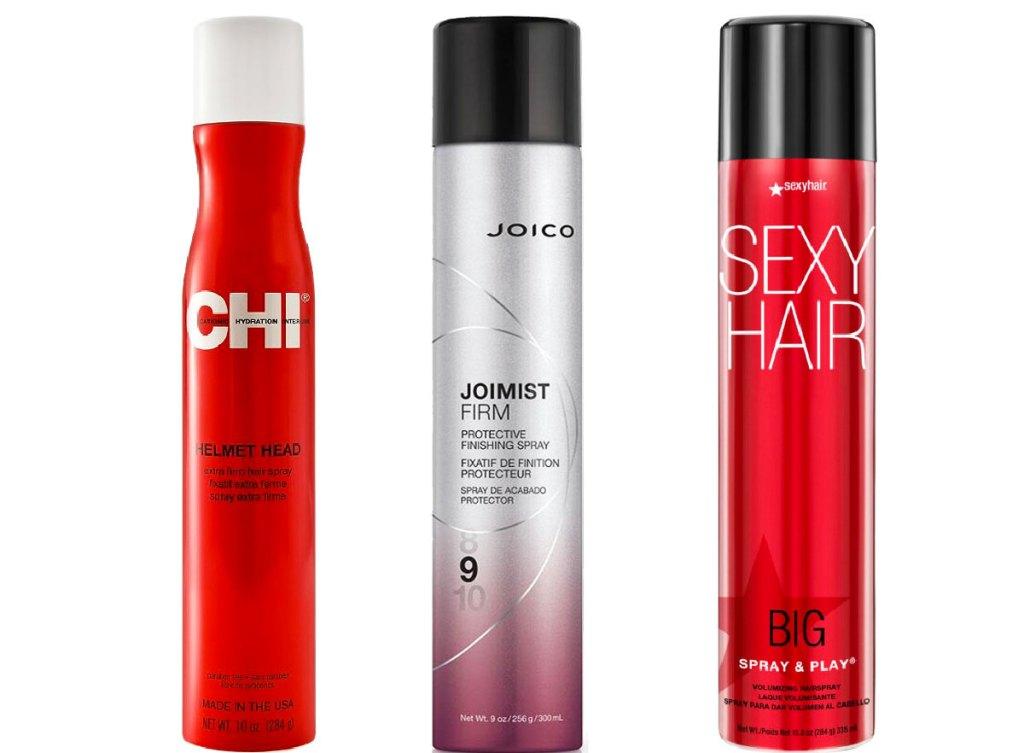 chi joico and sexy hair hairsprays