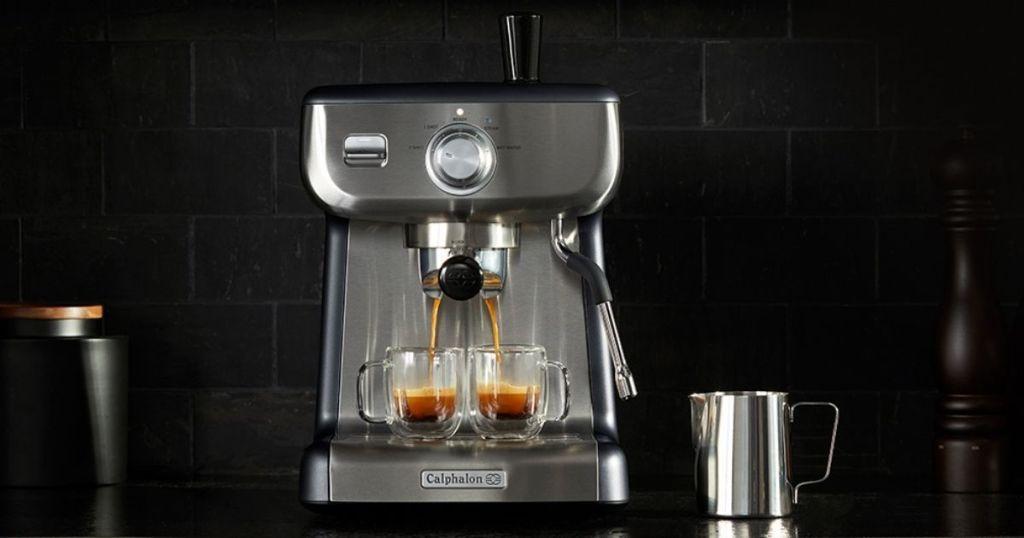 Calphalon Espresso Maker on a counter
