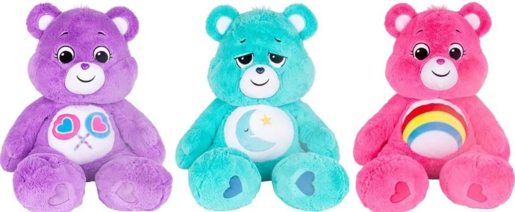 three large Care Bears