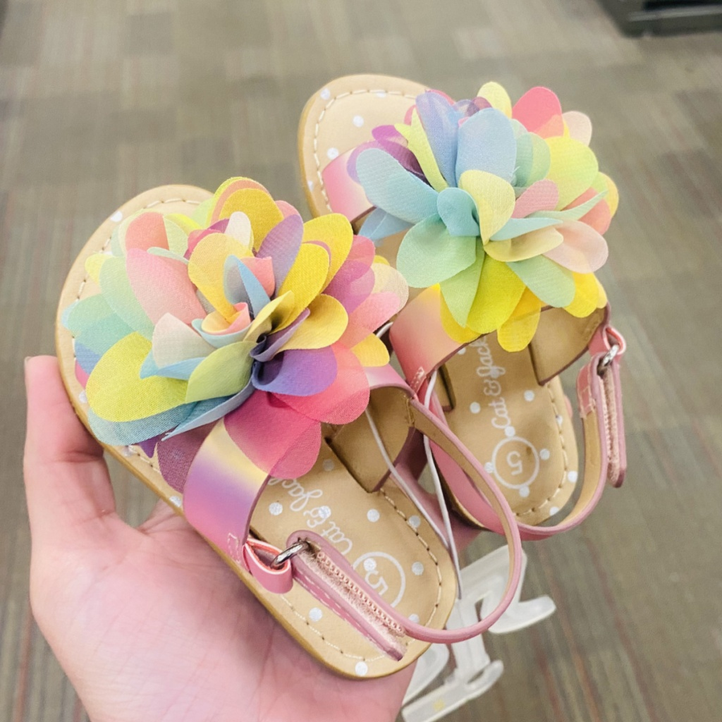 Floral shoes for toddlers in-hand