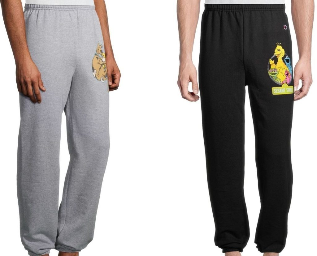 Champion Men's jogging pants with Scooby Doo and Sesame Street