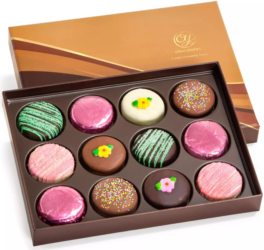 a gift box of chocolate covered OREOS