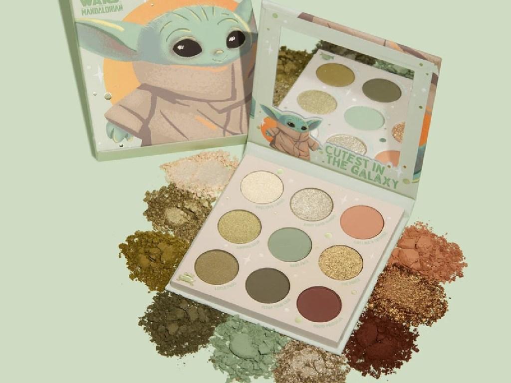 green Baby Yoda eyeshadow palette