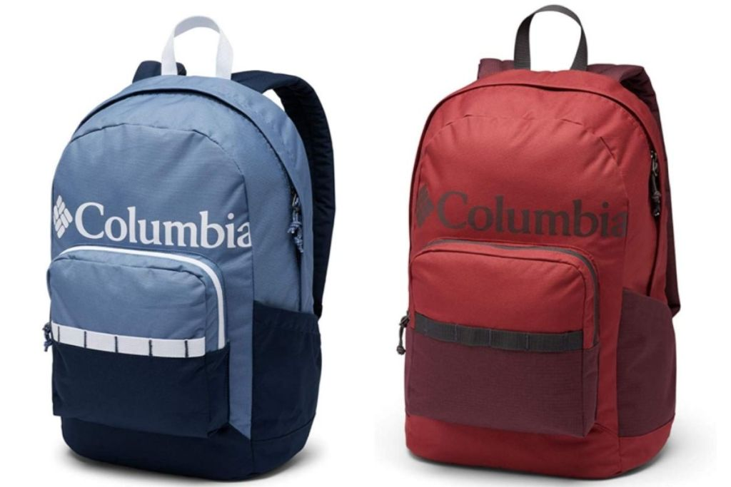 2 views of Columbia Men's and Women's Zigzag Backpacks
