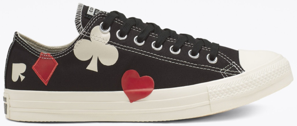 converse queen of hearts shoes