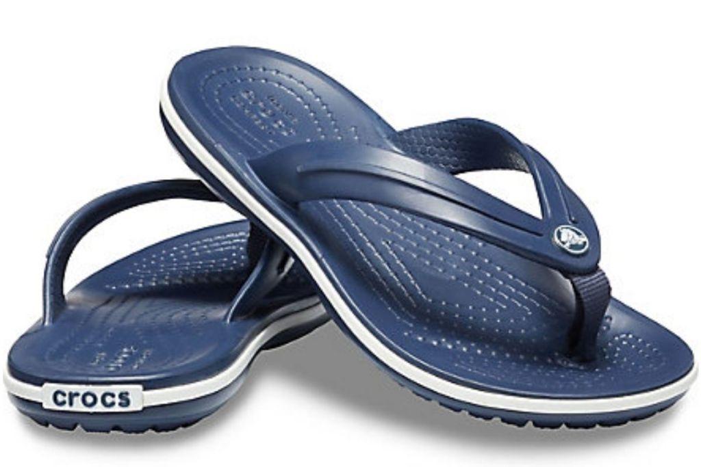 navy Crocs Crocband Flip