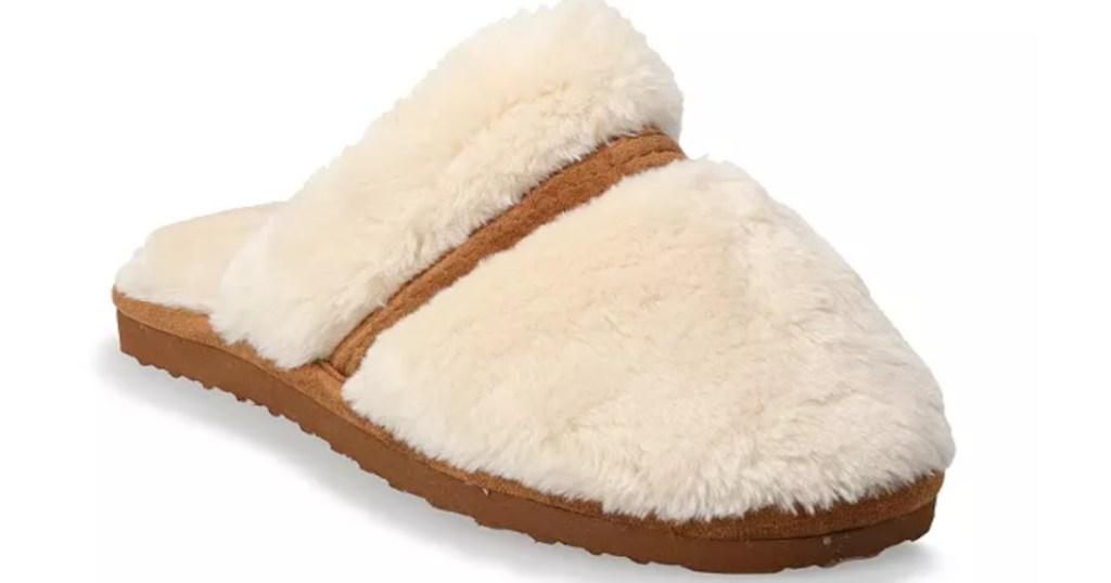 plush women's sonoma fuzzy slippers