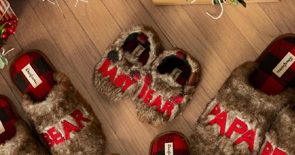baby bear dearfoam slipper