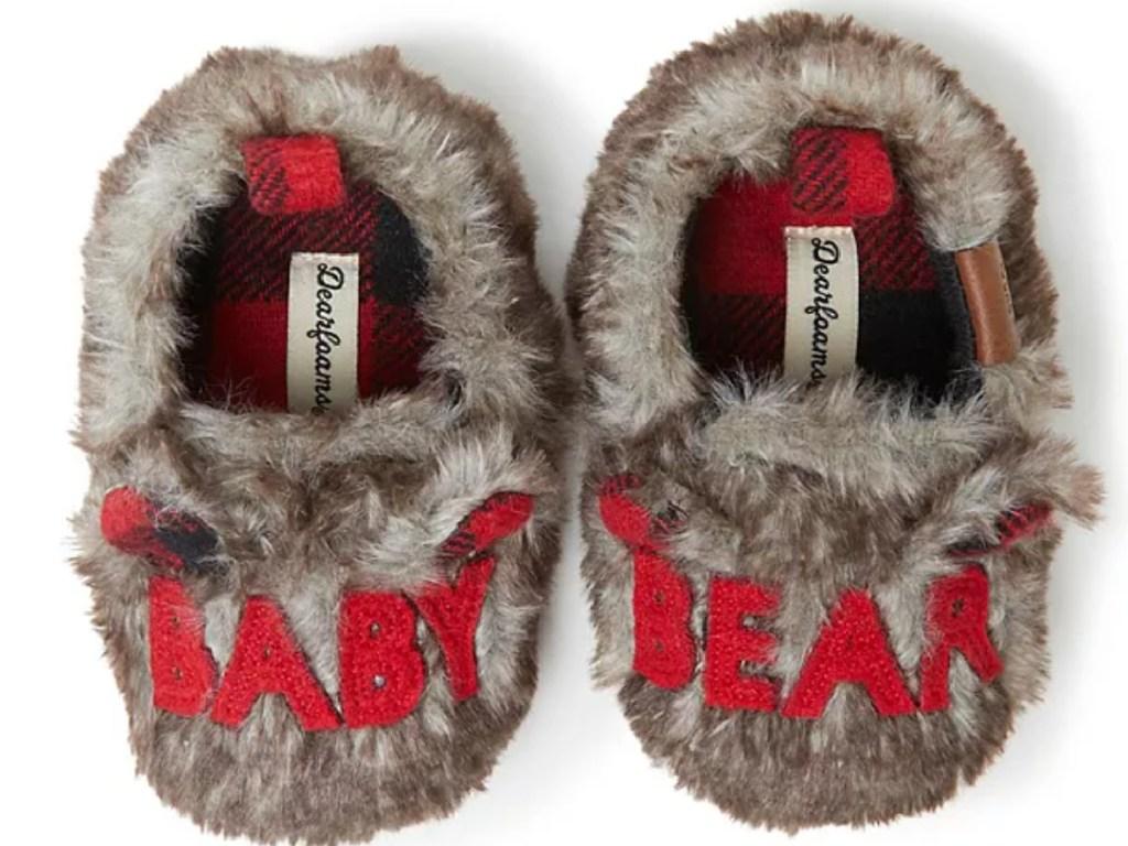 baby bear dearfoam baby slippers