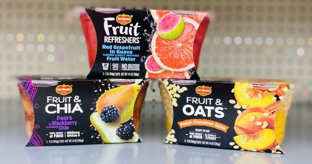 Del Monte Fruit Snacks on shelf in store