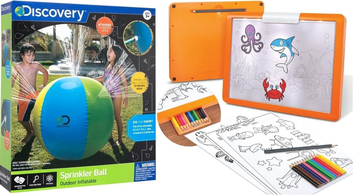 Two Discovery Kids Toys including Sprinkler Ball and Reacing Tablet