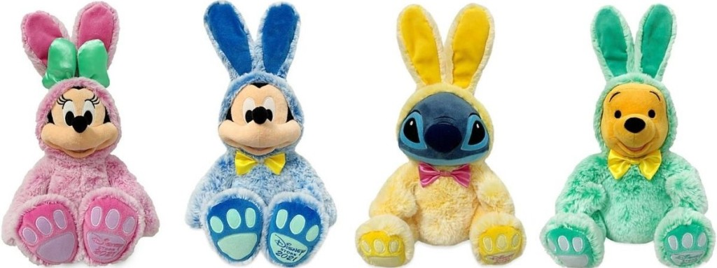 row of Disney Easter Plush