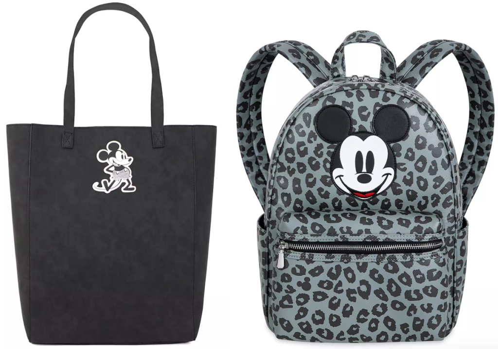 disney grayscale mickey backpack and tote