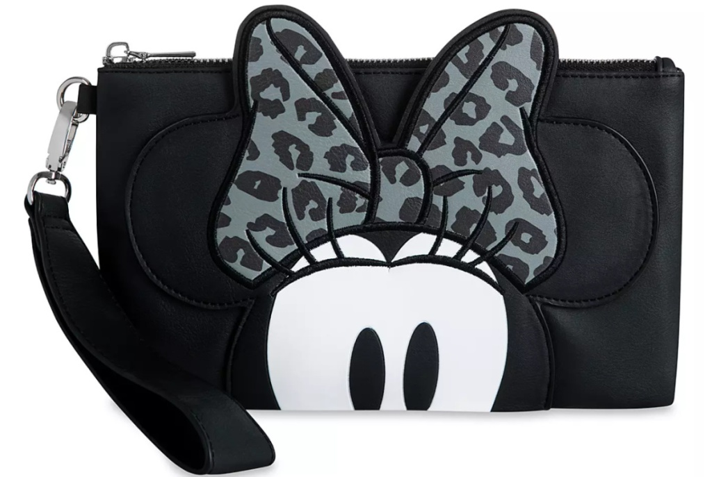 minnie mouse grayscale wallet