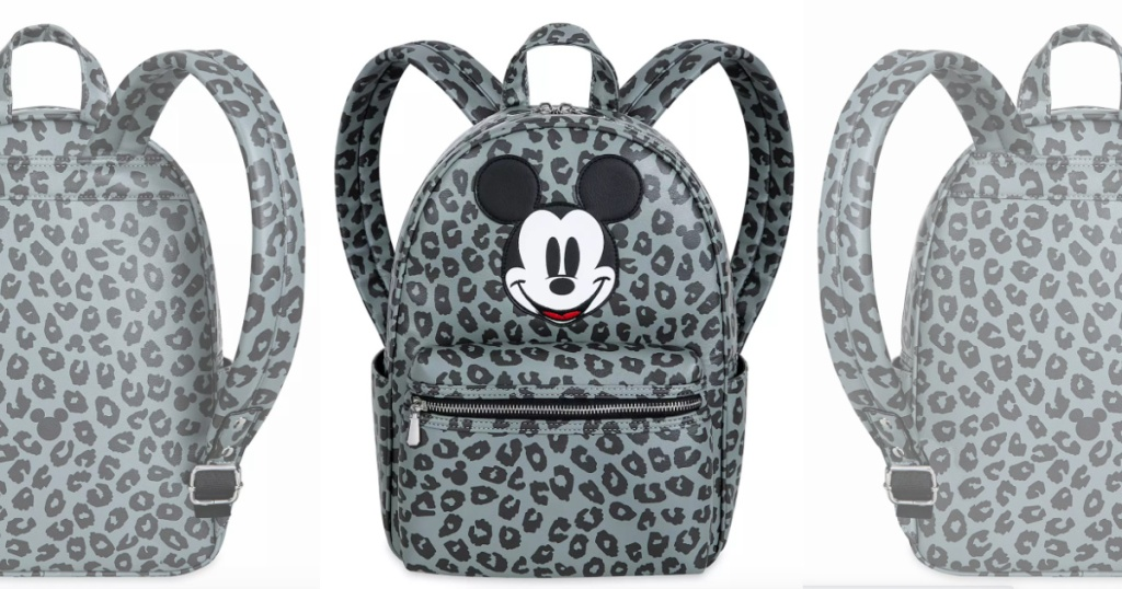 disney grayscale leather mickey mouse backpack