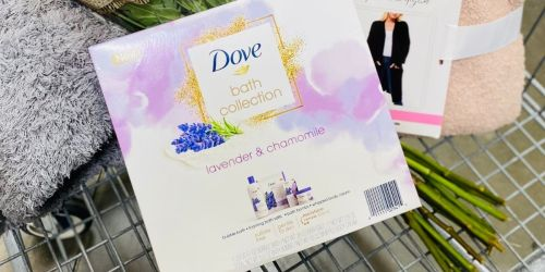 $3 Off Dove Bath Relaxing Care Gift Set at Sam's Club | Includes 4 Lavender & Chamomile Bath Products