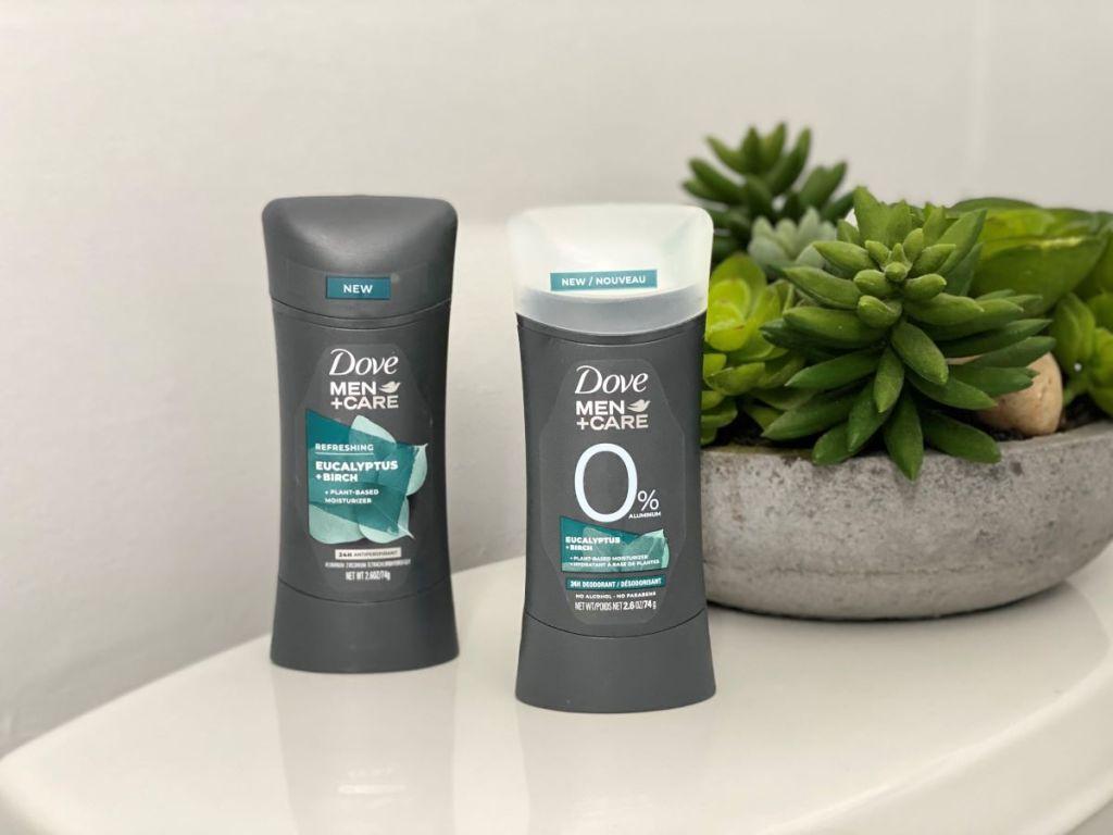 Dove Men Care Plant Based deodorants