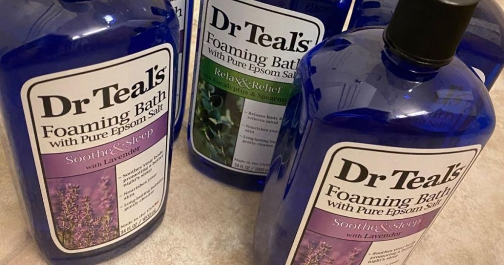Dr Teals Foaming Bath in Lavender and Eucalyptus Scents