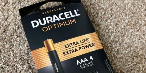FREE Duracell Optimum Batteries Multipacks After Office Depot Rewards