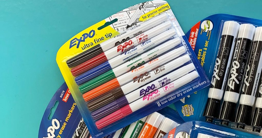 packages of expo dry erase markers