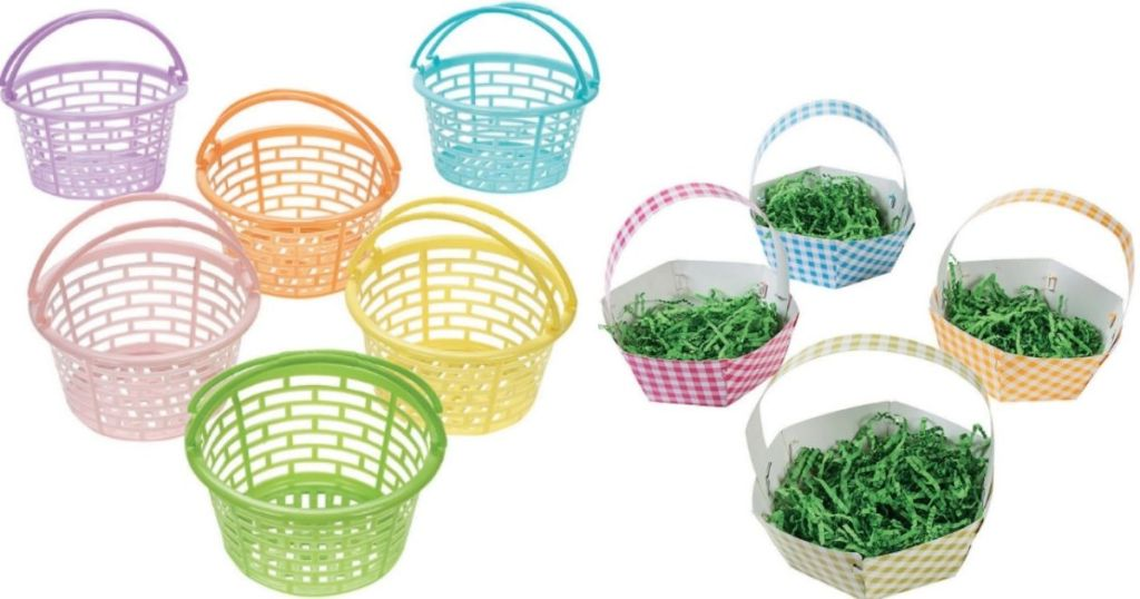 two sets of Easter baskets