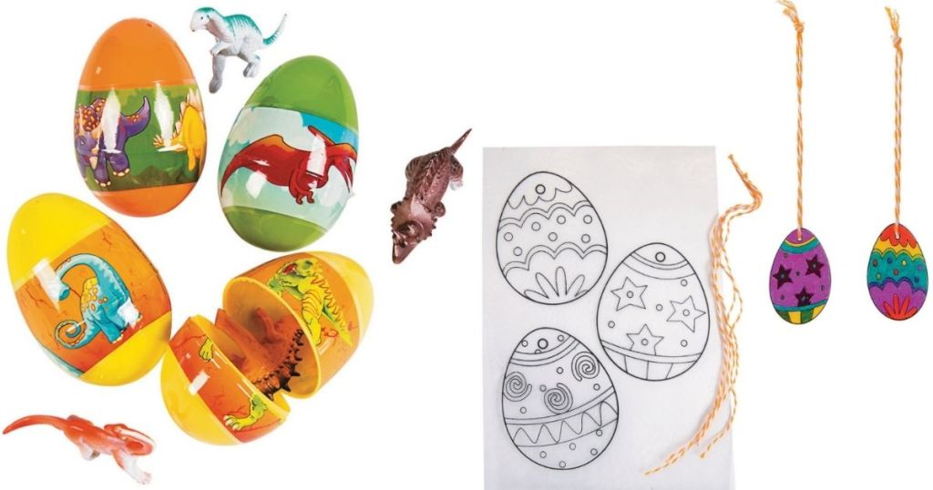 Easter Eggs and Coloring Sheet