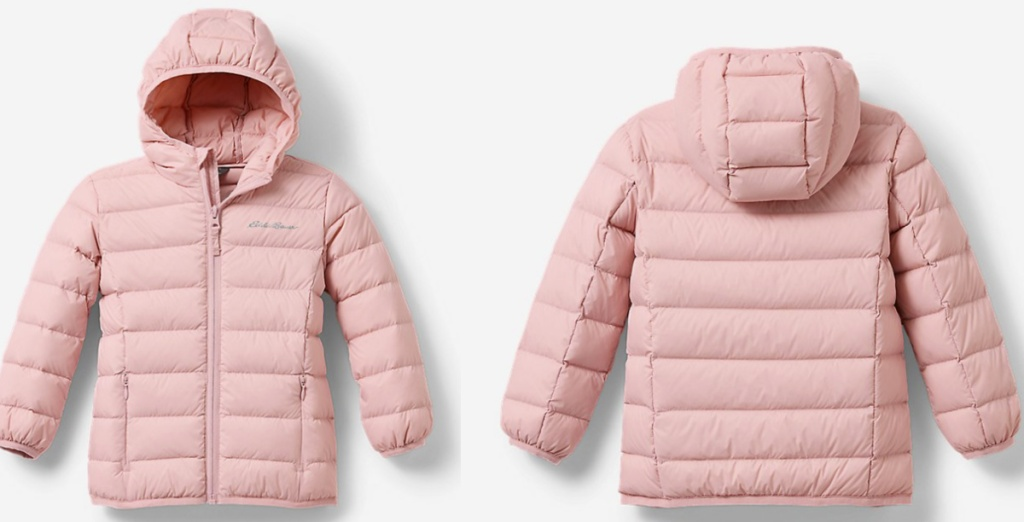 Front and back view of an Eddie Bauer coat