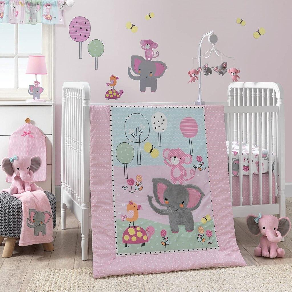 Elephant Plush Bedtime Originals in nursery
