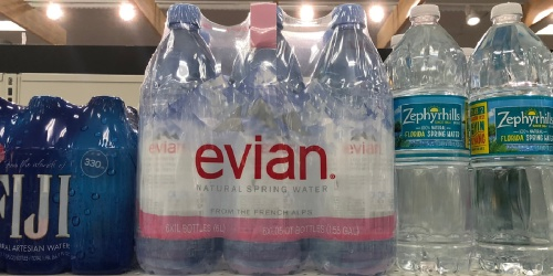 Evian 1L Water Bottles 6-Pack Only $5.58 Shipped on Amazon | Just 93¢ Per Bottle