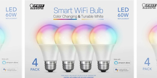 Smart Wi-Fi Bulbs 4-Pack Only $19.99 Shipped on Costco.com (Regularly $40)