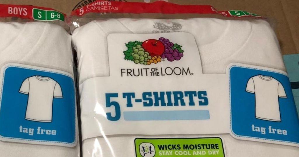Fruit of the Loom Boys Shirt 5-Pack