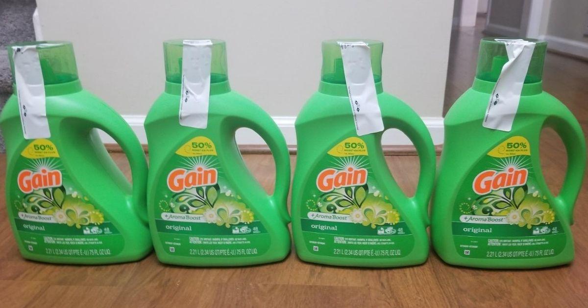 Gain Laundry Detergent 4-pack