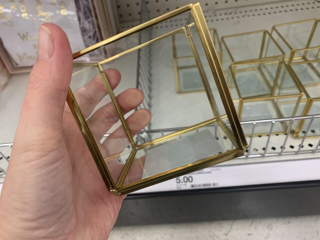 Gold Frame Glass Holder