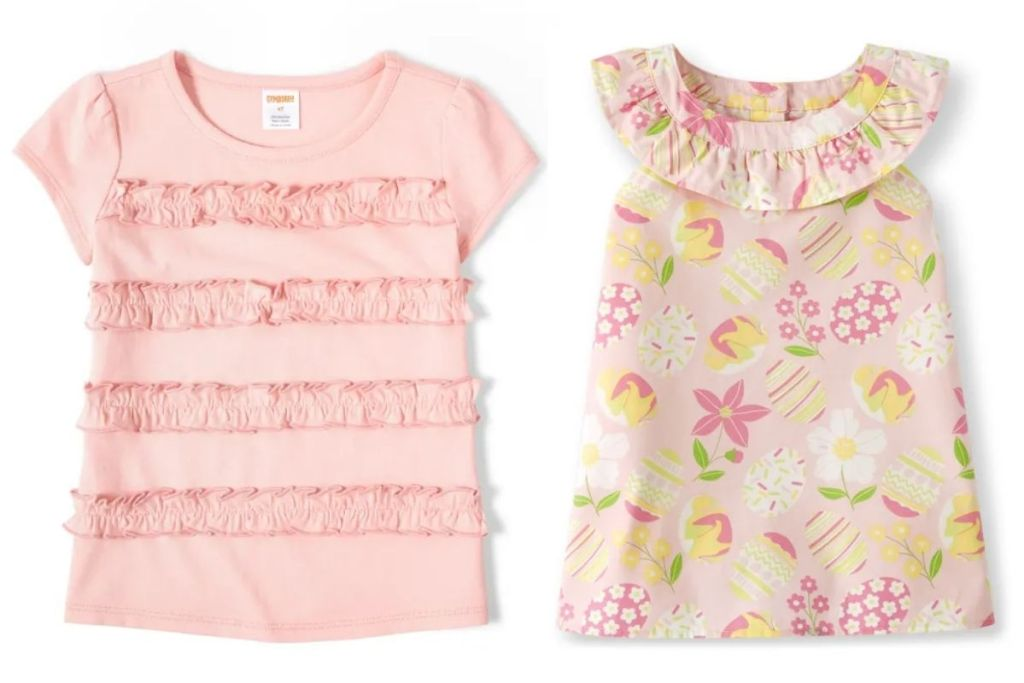 2 girls Gymboree Easter Tops