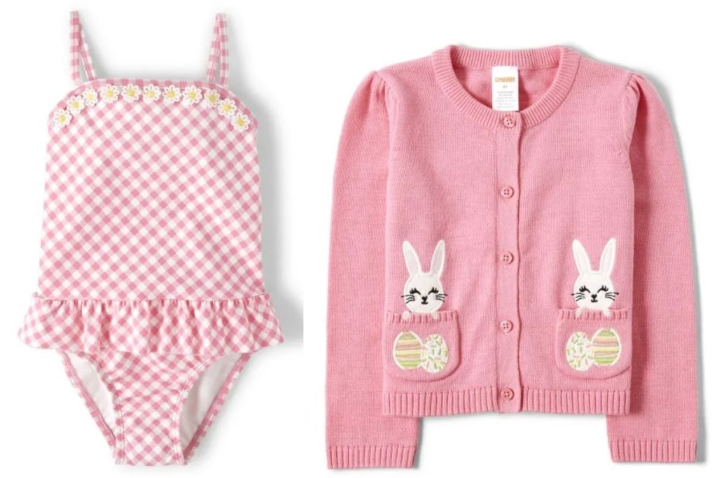 Gymboree Swimsuit and Easter Cardigan
