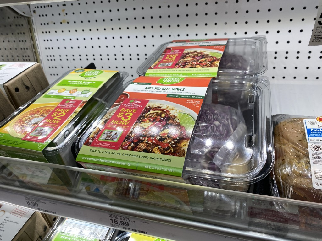 Hello Fresh Meal Kits in Target refrigerated shelf