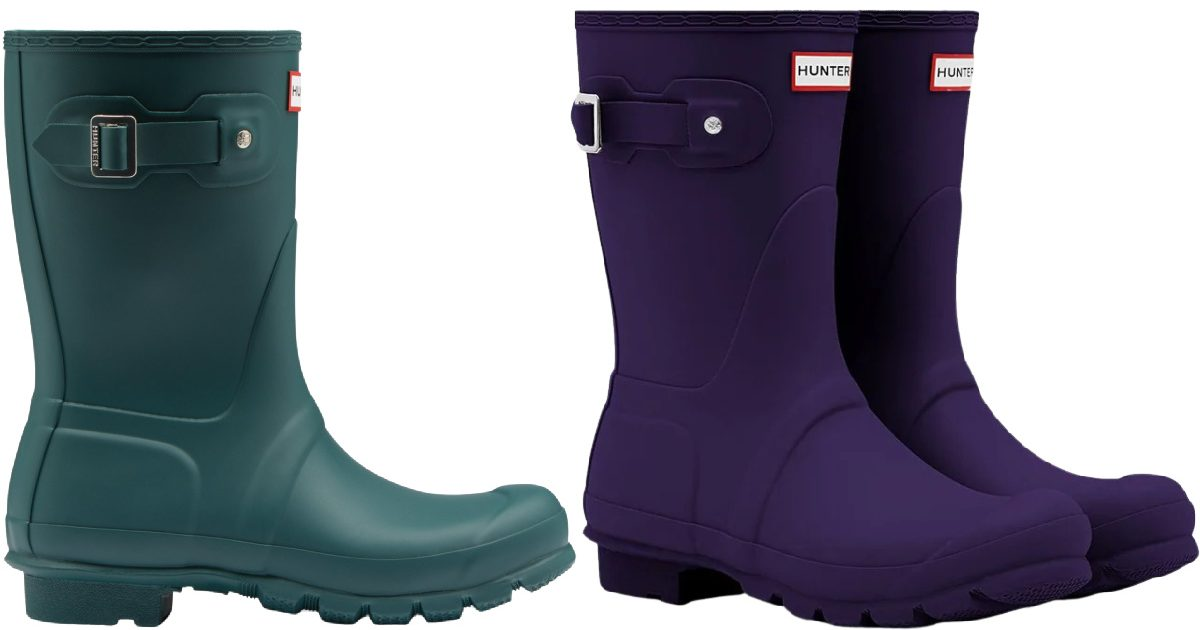 stock images of pairs of hunter womens boots