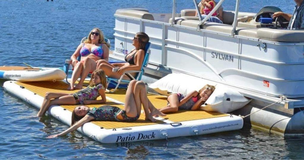 Island Hopper 15ft Party Dock w/ people in use