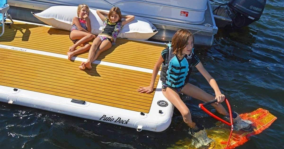 Island Hopper 15ft Party Dock as Launcher