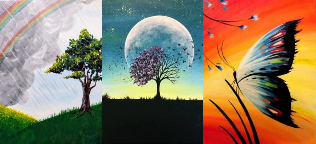 3 paintings scheduled for JOANN Painting Classes