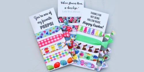 Hair Tie Sets w/ Cards Just $3.99 (Regularly $10) | Cute Easter Basket Gift Idea