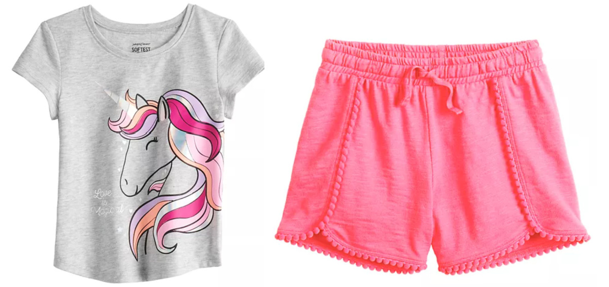 jumping beans toddler tee and shorts