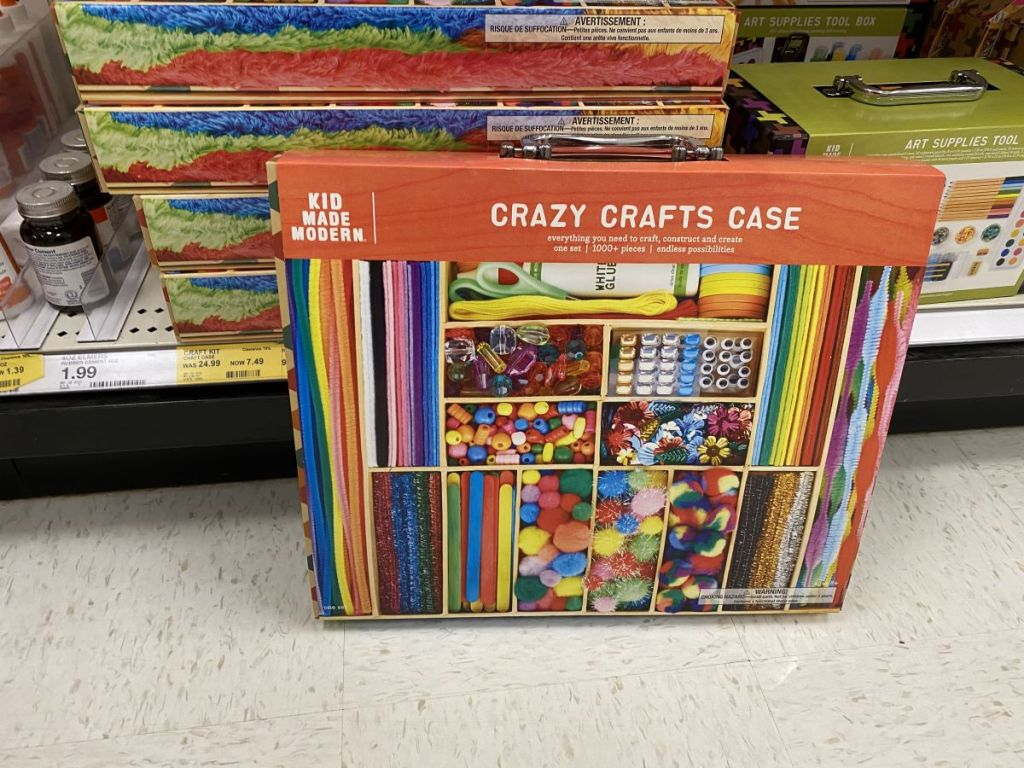 Kid Made Modern Craft Case on the floor at Target